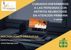 Curso para capacitar a la enfermería de familia en el cuidado integral de las personas con artritis reumatoide