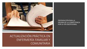 Curso realizado a través plataforma de formación FAECAP para la preparación de la prueba de la competencia por la via excepcional.
