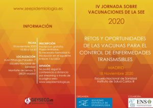 IV Jornada sobre VACUNACIONES de la SEE 2020 @ Escuela Nacional de Sanidad Instituto de Salud Carlos III, Aula Pittaluga,Pabellón 7