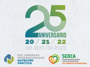 XXV Jornadas Internacionales de Nutrición Práctica: 25º aniversario, del 20 al 22 de abril